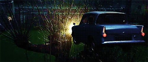 ron 39 s flying ford anglia crash landing into the whomping willow in alnwick castle 39 s inner bailey. Black Bedroom Furniture Sets. Home Design Ideas