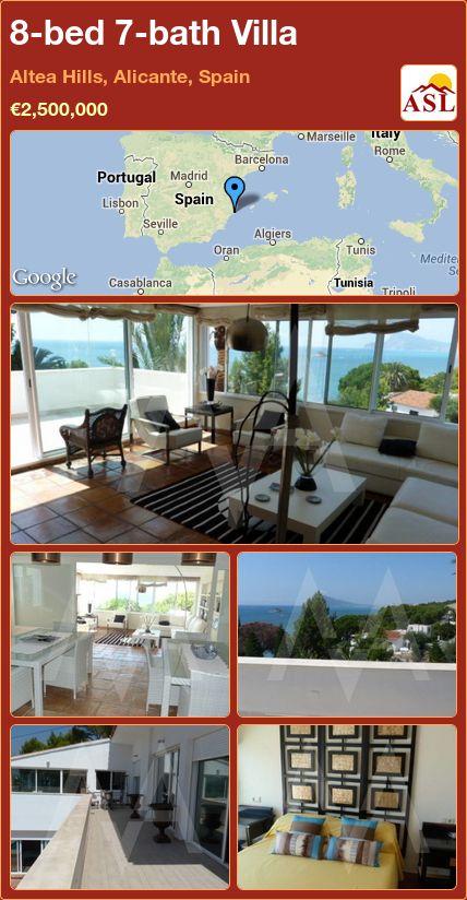 8-bed 7-bath Villa in Altea Hills, Alicante, Spain ►€2,500,000 #PropertyForSaleInSpain