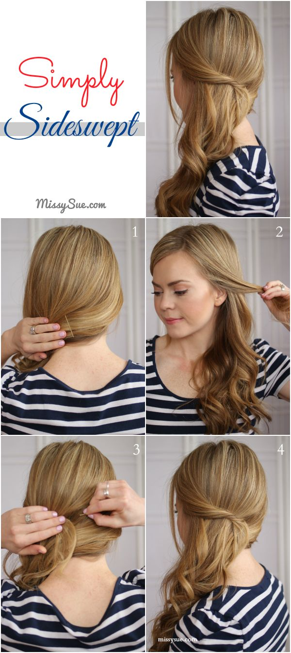 Elegant side hairstyles - Hairstyle Easy Side Swept Waves Tutorial Steps Here Http Www