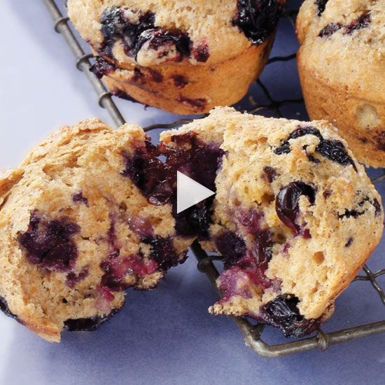 How to Make Healthy Blueberry Muffins-- Watch helpful how ...