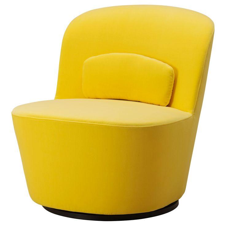 STOCKHOLM Swivel easy chair - Sandbacka yellow - IKEA