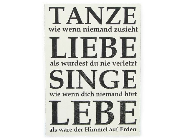 Toller Spruch als Wohndeko / funny art print for home decoration by Interluxe via DaWanda.com