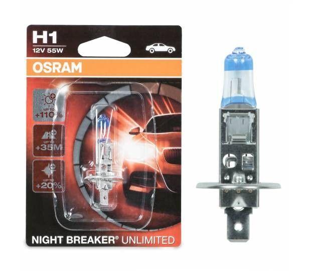 Osram H1 Night Breaker Unlimited 64150nbu 01b Autolampe 1 St Einzelblister Osram Lichtkegel Und Lampen