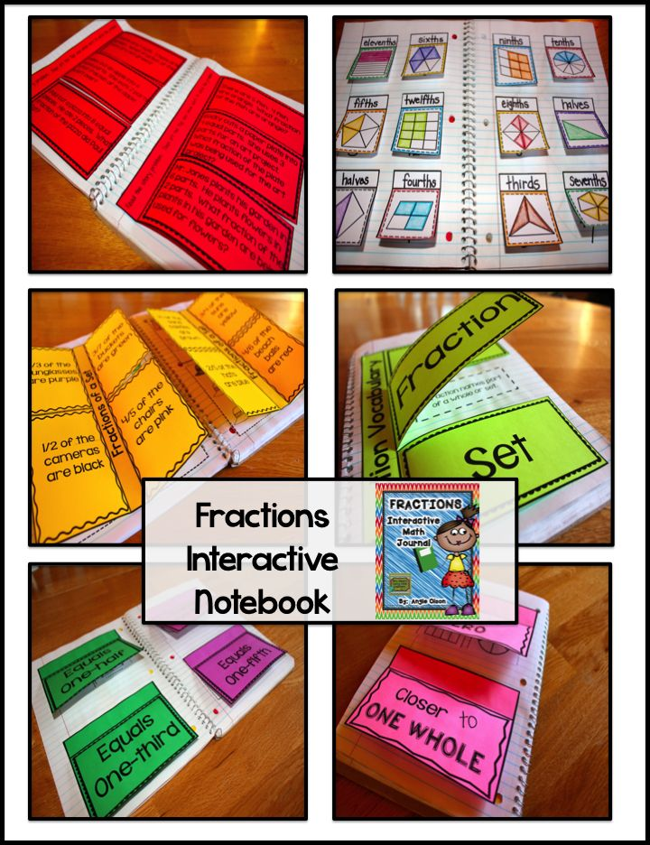 This 28-page product is jam-packed with quality goodies that will provide you with great resources to use for your fraction unit! What's Included: *Explanation of Interactive Math Notebooks *Fraction Vocabulary Words *Numerator vs. Denominator Mini Anchor Chart *Equivalent Fractions *Estimating Fractions *Color  Label the Fraction *Fractions of a Set *Fraction Story Problems *Photos of these interactive math notebook pages