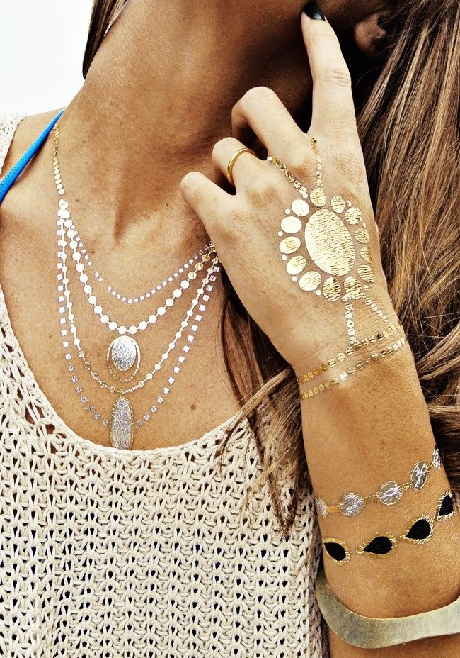 29 best 2014 spring summer boho style images on for Best fake tattoos