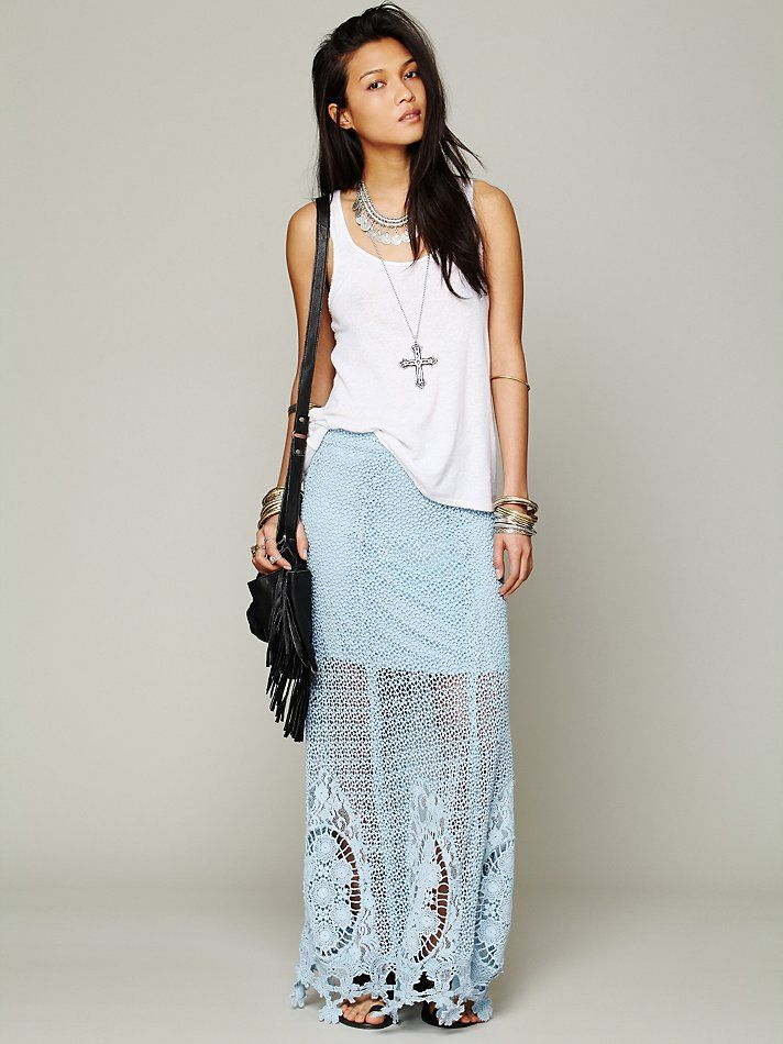Free People Mi Amore Maxi Skirt at Free People Clothing Boutique
