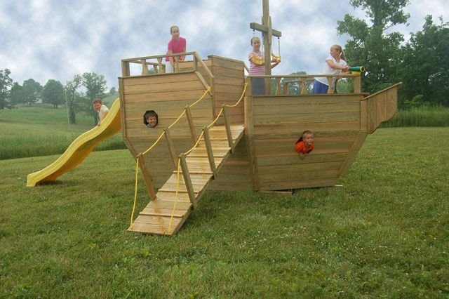 backyard boat playground