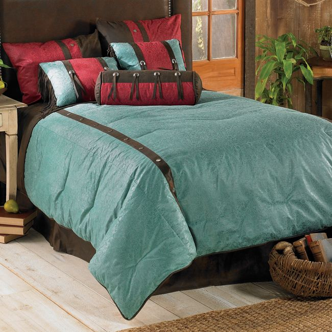 Cheyenne Turquoise Bed Set   Super Queen