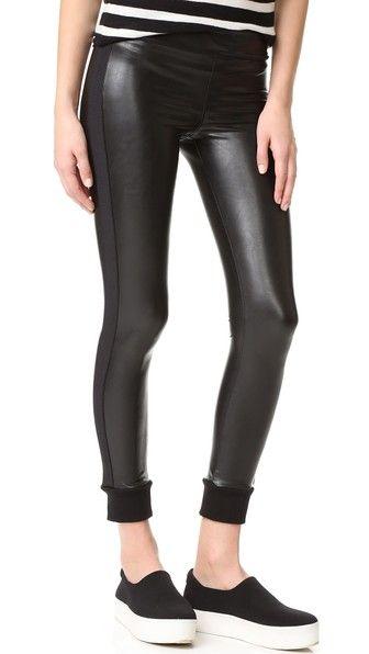 DAVID LERNER Cuffed Vegan Leggings. #davidlerner #cloth #dress #top #shirt #sweater #skirt #beachwear #activewear