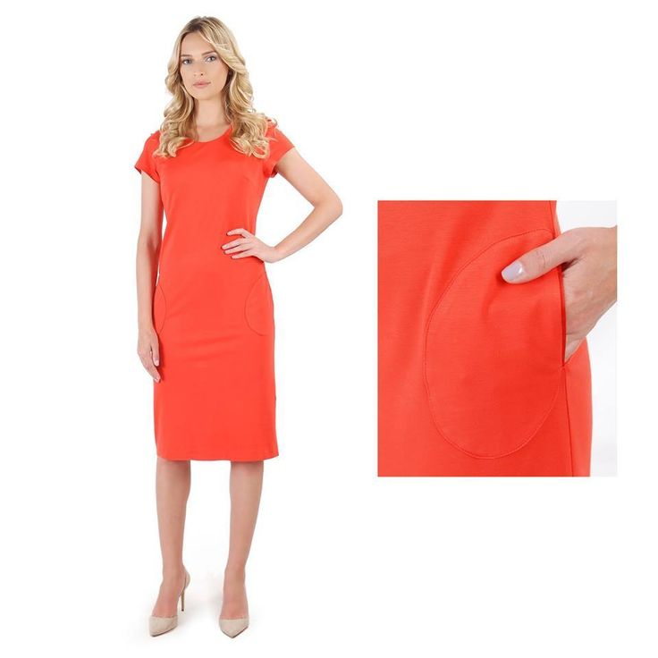 Red-orange brings LOVE & FUN!  #dress #redorange #colortrend #summer17 #casual #women #dayoutfit #fashion #style #yokko