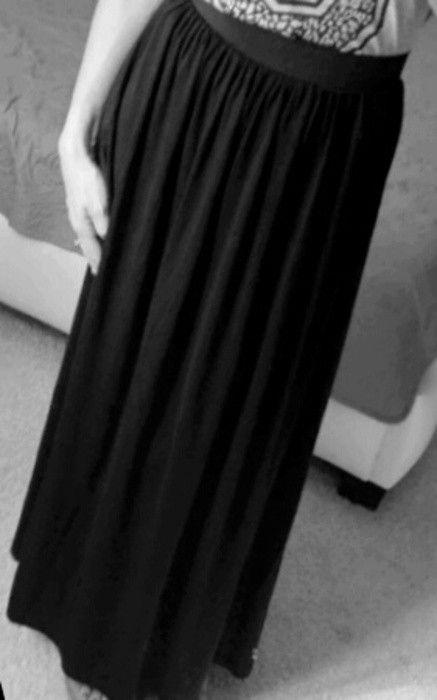 Czarna długa elegancka spódnica :) H