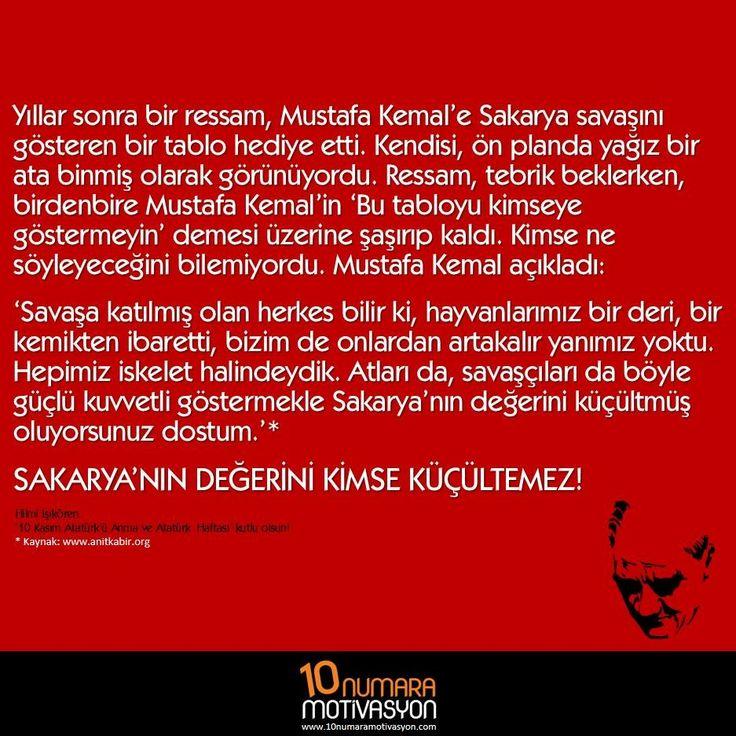 Sakarya'nın değerini kimse küçültemez!  https://10numaramotivasyon.com/kimse-kucultemez/ #MustafaKemal #Atatürk #Sakarya #farkındalık #motivasyon