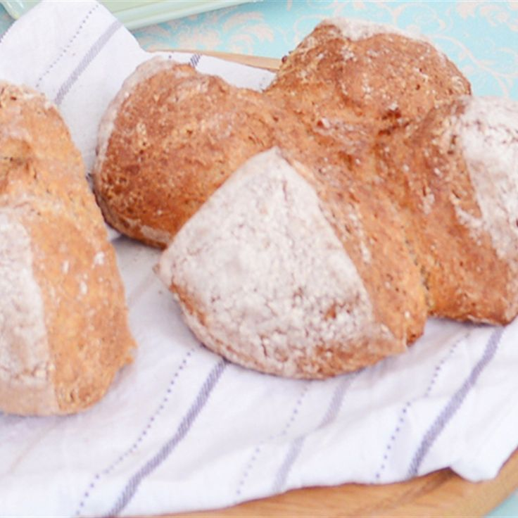 Try this Soda bread recipe by Chef Paul Hollywood. This recipe is from the show Great British Bake Off Master Class.