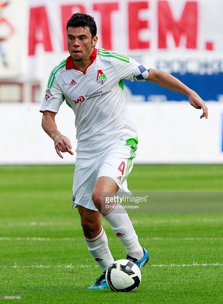Rodolfo of FC Lokomotiv Moscow in action during the Russian Football League Championship match between FC Lokomotiv Moscow and FC Tom Tomsk at the Lokomotiv Stadium on July 12, 2009 in Moscow, Russia.