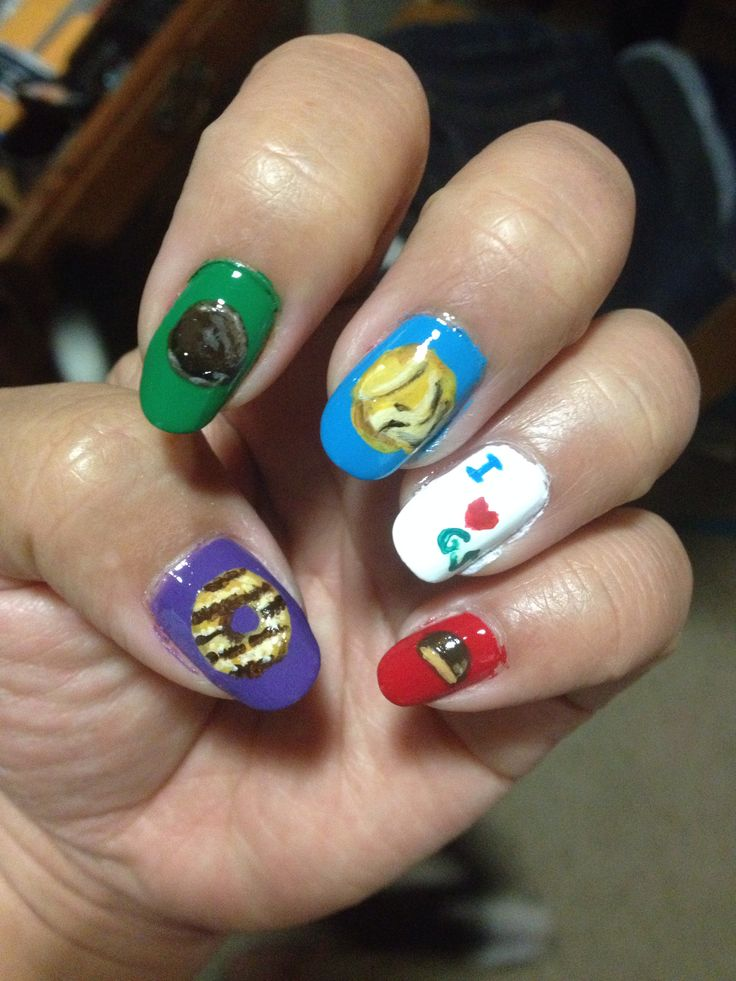 Girl Scout Cookie Nail Art