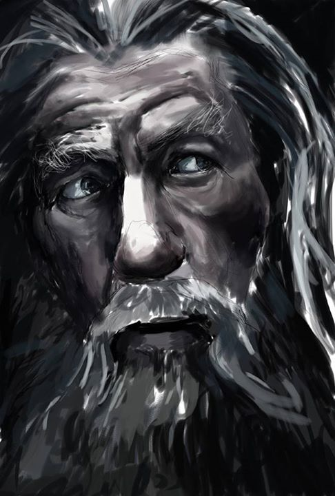Gandalf 1hr speed painting to mark the end of an incredible trilogy.