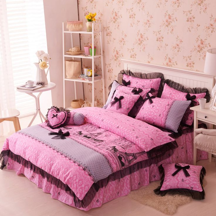 paris themed bedding set queen and twin size - Teen Bedroom Sets