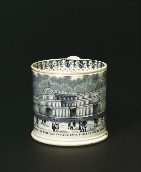 Commemorative mug - Staffordshire, England Date: 1851 (made)