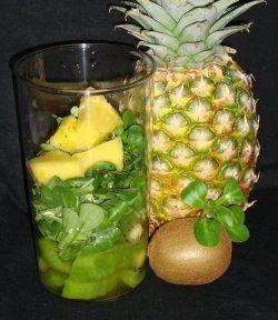 Rezept Grüner Kiwi-Smoothie mit Feldsalat