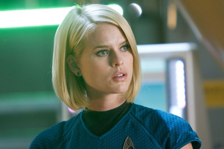 Star Trek Beyond co-writer Simon Pegg explains why they decided not to include Alice Eve's Carol Marcus in the Star Trek Into Darkness sequel Star Trek Beyond.
