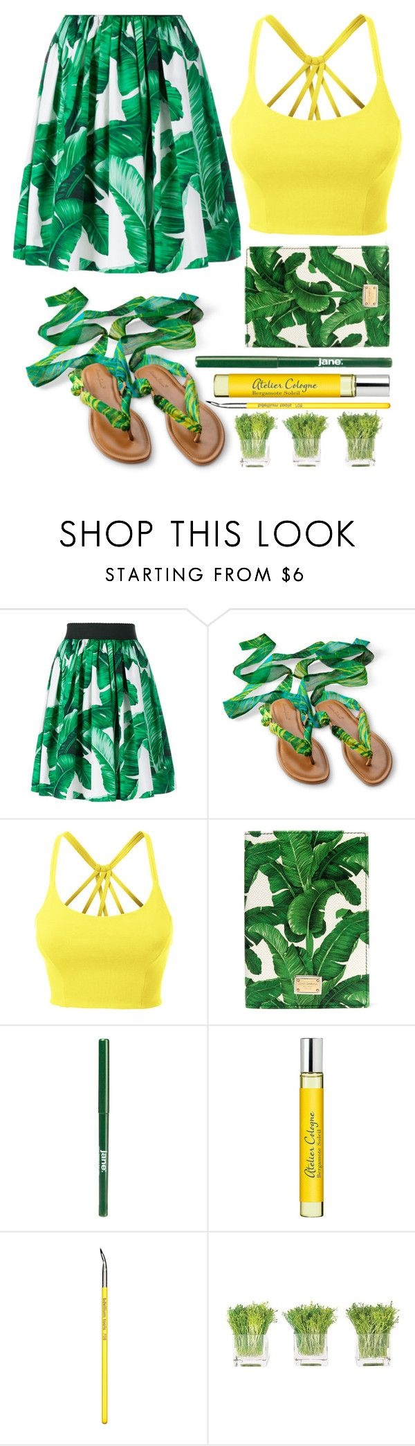 """""""street style"""" by ecem1 ❤ liked on Polyvore featuring Dolce&Gabbana, LE3NO, jane, Atelier Cologne, Bdellium Tools and NDI"""