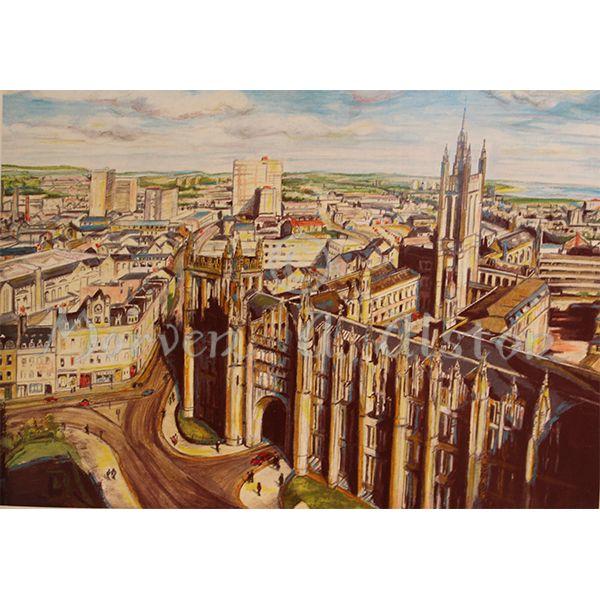 Marishal's Gateway and Beyond by Morven A. Alston. Artwork created in: Aberdeen, Scotland