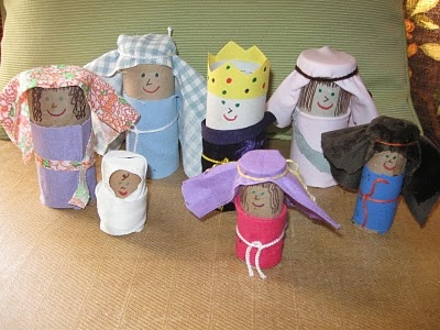 Make some cute little Bible people to use in stories. This was a hit, and kept us occupied  for half the morning! I'm excited about our little people, and our paper towel tube Goliath! Looking forward to doing a series of NT ladies: Chloe, Lydia, Tabitha...and maybe some OT-ers who need more press, like Abigail.