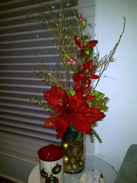 107 best images about arreglos de flores on pinterest for Como hacer arreglos de navidad