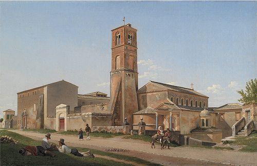 Christoffer Wilhelm Eckersberg (1783-1853):   S. Agnese fuori le mura, 1815, Statens Museum for Kunst