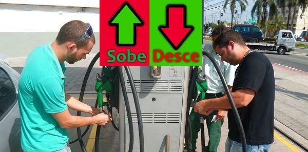 """A política de preços """"de mercado"""" da Petrobras virou uma loucura. Sexta-feira, baixou o preço da gasolina em5,9%. Hoje, subiu 1,8%. Já o diesel caiu sexta4,8% e hoje subiu 2,8%. Amanhã, ninguém sabe, depende..."""
