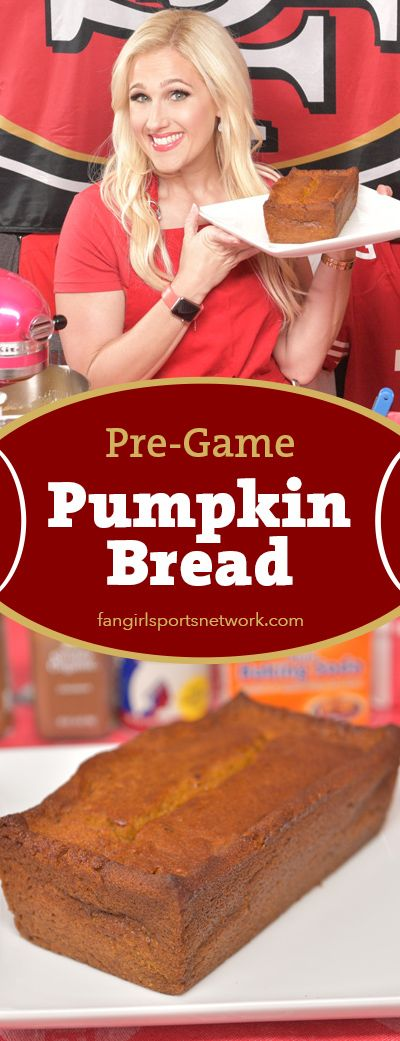 Hello football fans! We are deep into the NFL season and Thanksgiving is only a couple weeks away. Whether your team is going down the drain or shining bright like a diamond, pumpkin bread is always a good game day breakfast or snack!