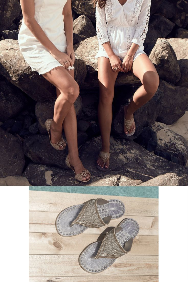Our Paris FLATS and Dubai beach-resort-cruise SANDALS! Perfect for yours glamorous stroll or getaway! Our SANDALS feature unique massage soles with breathable vents (your feet won't sweat in them!). Why not give them a try? We ship worldwide!