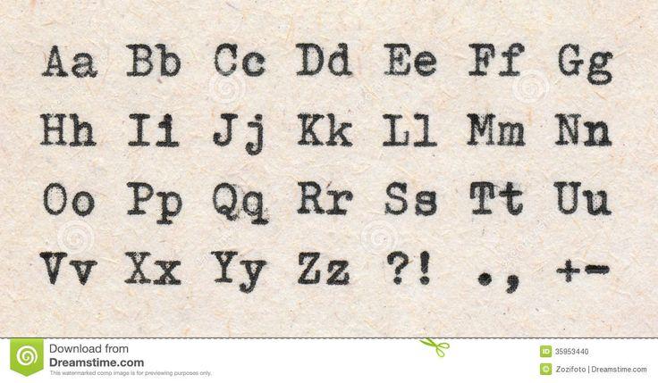 Resultado de imagen para letras imprentas a máquina de escribir