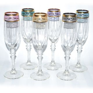 Made in the Tuscany region of Italy by RCR Crystal, these elegant water goblets make a classic addition to any table ware. Description from overstock.com. I searched for this on bing.com/images