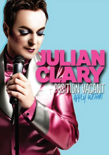 Want to apply for Julian Clary's vacant position?   You can do so at the Tivoli, Fortitude Valley, at Clary's show POSITION VACANT: APPLY WITHIN on April 24th.  Camp comedy and anarchy from  the UK.  http://julianclary.co.uk/
