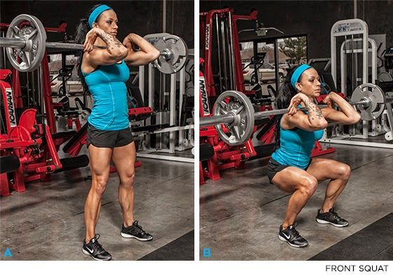 How to do a front squat properly.
