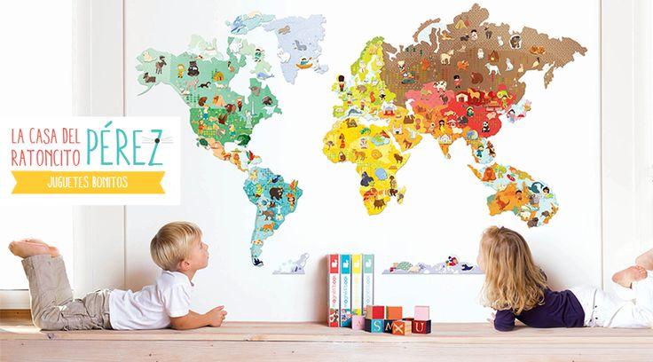 La tienda online de juguetes educativos La Casa del Ratoncito Pérez, sortea un Magneti'stick Le Monde de Janod: un vinilo magnético del mundo con 101 imanes, para decorar una habitación infantil y que los niños aprendan mientras se divierten. ¿Qué hay que hacer para participar?Haz clic en el botón