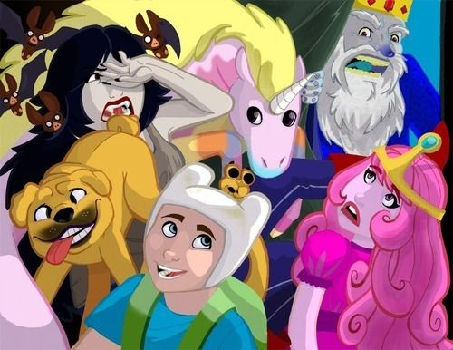 Adventure time!  What they'd look like if they weren't so animated :p