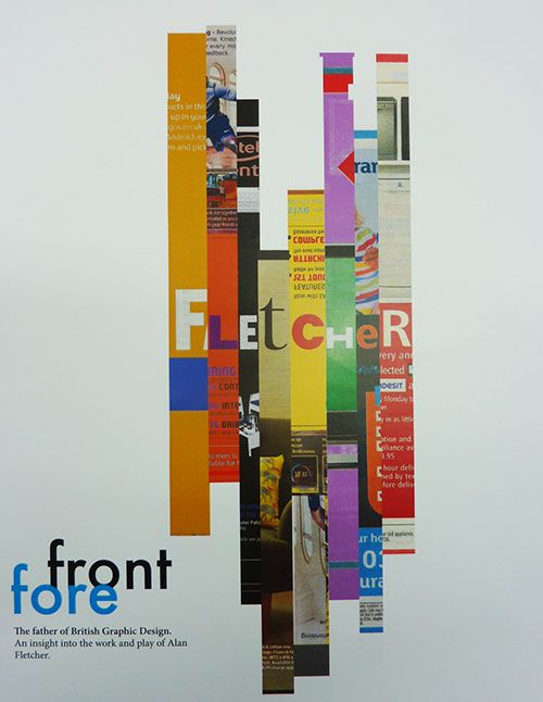 """""""Forefront"""" Alan Fletcher cover  ~ year one student project 2013 @ UCLan, Preston… (by uncredited design student)"""