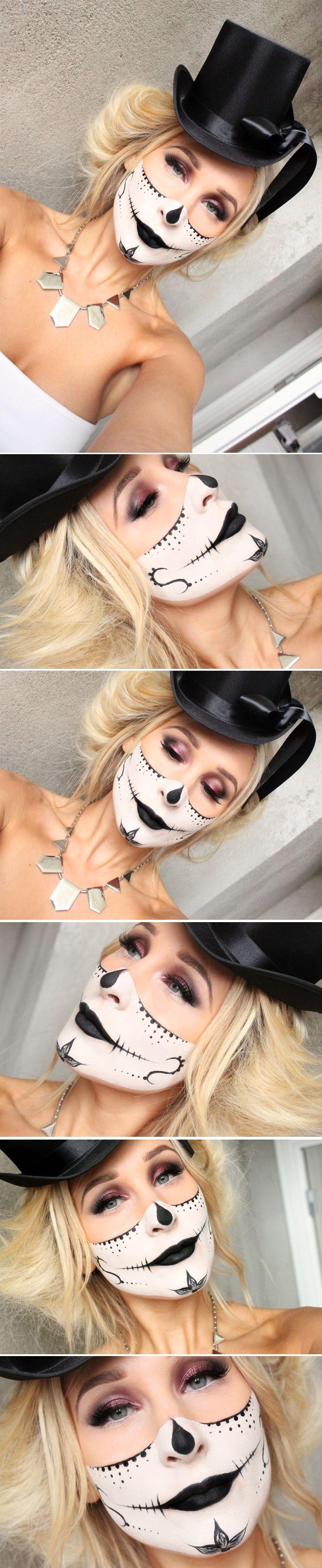 Dagens halloween makeup – SUGAR SKULL MASK | Helen Torsgården -