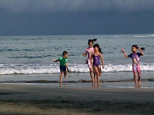 : Marbella on holiday when the school children.