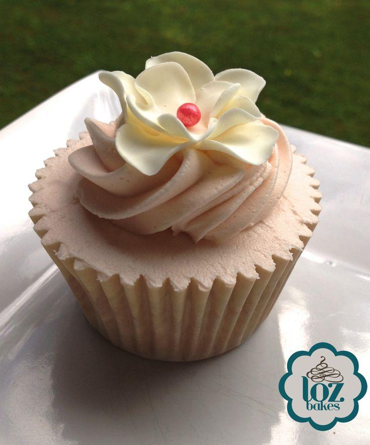 Ruffled flower cupcake