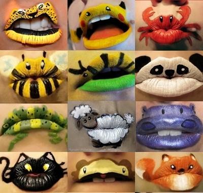 Lip Art Collage