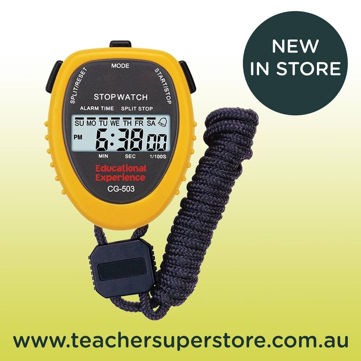 Electronic Stopwatches. Perfect for keeping the pace during timed activities, right down to 1/100th of a second.