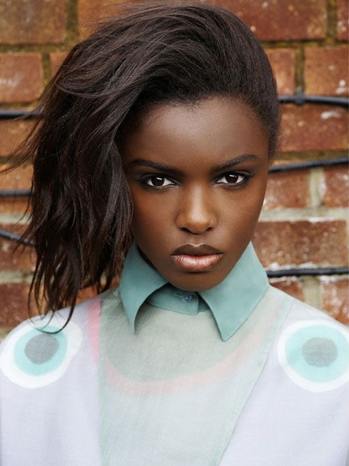 """thehiddencollectionof:    fash-models:    Leomie Anderson """"Rain in the Dust"""" by Saty Pratha for Fashion Gone Rogue    I love the pastel colours of that sweater.. plus that intense look in her eyes!"""