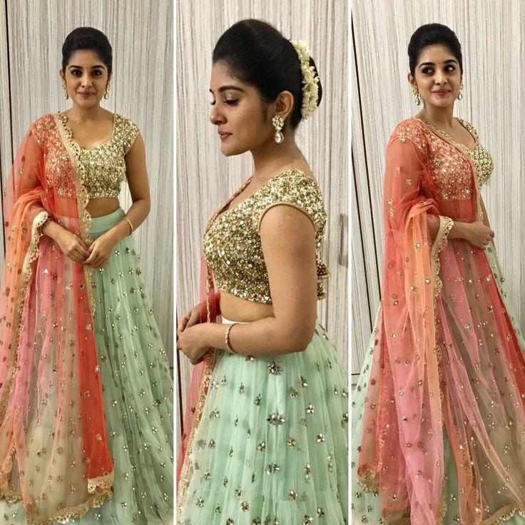 Beautiful Nivetha Thomas in Mrinalini Rao For a mall opening. 11 September 2017