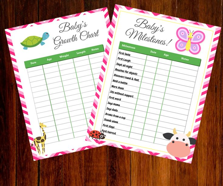 free printable growth and milestone chart we celebrated