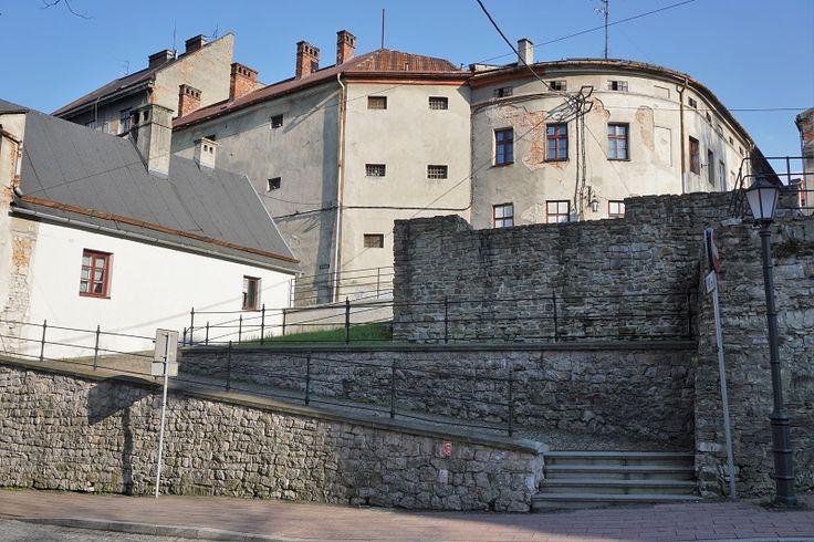 Orkana Street, Old City Walls in Bielsko-Biala, Poland