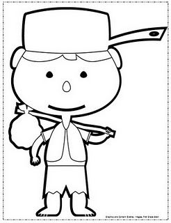 Johnny appleseed, Coloring pages and Heroes on Pinterest