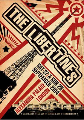 THE LIBERTINES follow their Hyde Park gig with two massive Alexandra Palace gigs for September 2014. Tickets on sale Monday 7th July -- http://www.allgigs.co.uk/click/libertines/